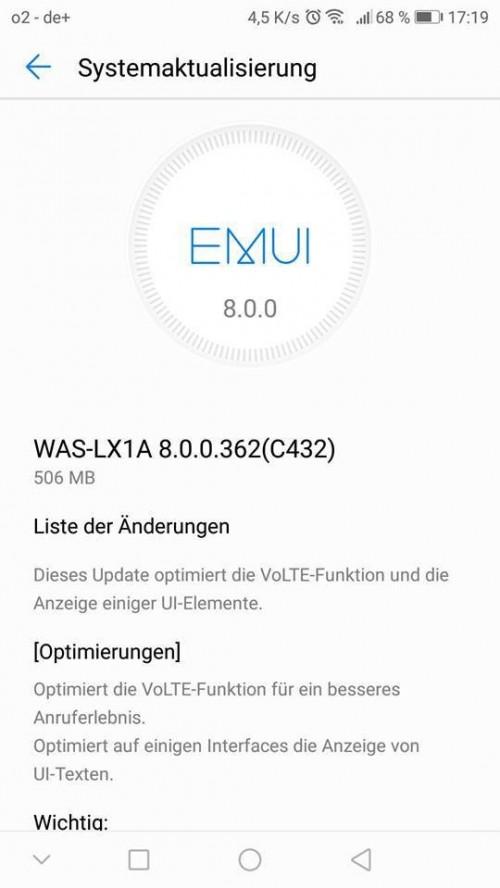Android Oreo 8.0 برای Mate 10 Lite و P10 Lite