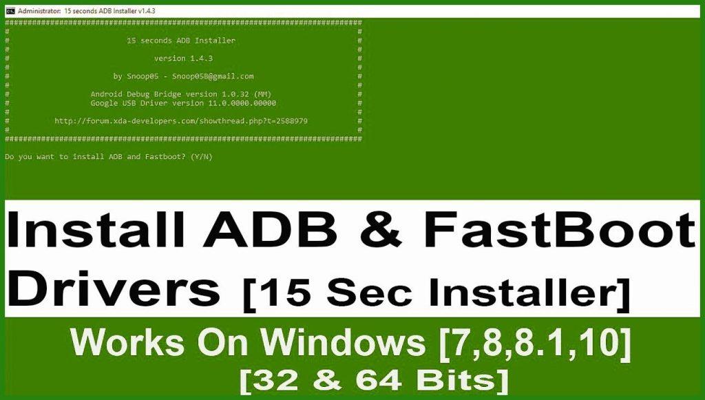 آموزش نصب ADB و Fastboot و نصب Google USB drivers در 15 ثانیه